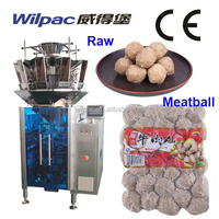 Frozen Beef Meatball Vacuum Pillow Bag Auto Weigher Filling Packaging Machinery