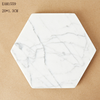 White or black Marble Coasters Hexagon Coasters