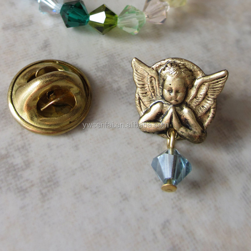 2016 Hot sale wholesale blue drops birthstone angel pins