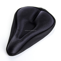 Comfort MTB Cycling Bicycle Bike Gel Pad Seat Saddle Cover Soft Cushion Black