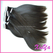 Can Be Dyed any color Virgin Indian Two side tape hair black