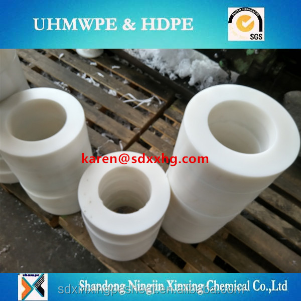 polyethylene uhmwpe engineering plastic roller/UHMWPE wear-resistant rigid plastic pulley