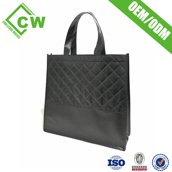 Eye catching Event Giveaways Foldable Non Woven Bag folding shopping bag with Lamination