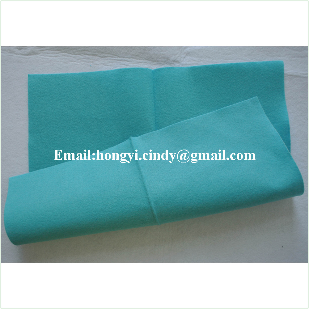 Household cleaning use super absorbent multi-purpose needle punch nonwoven wipes