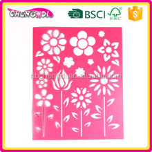 super style whosale flower stencil Economy Drawing Stencils drawing kit