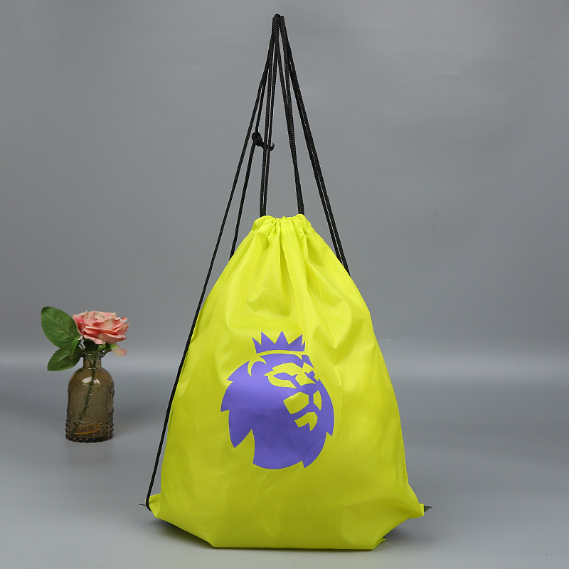 Yellow Eye-Catching Wholesale Square Shape 210D Polyester Drawstring Bags