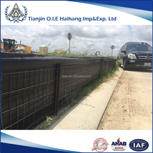 Black PP wire backed silt fence with welded wire used for construction