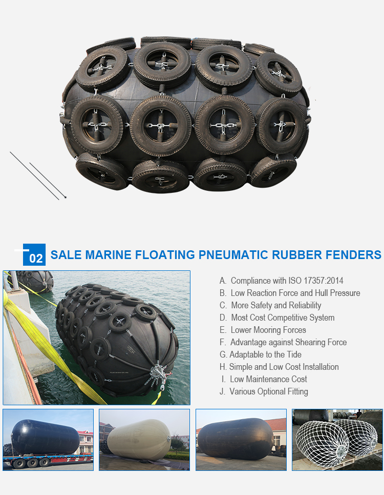 inflatable yokohama pneumatic rubber fender airbag for dock and vessel