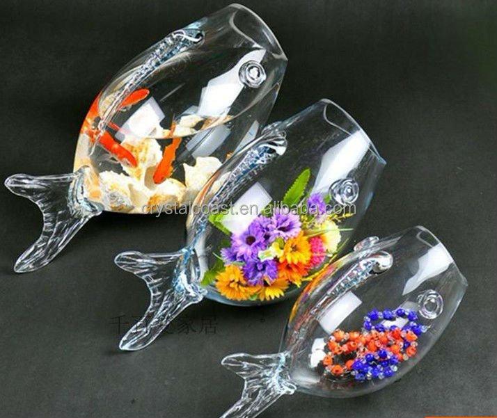 Large glass fish bowl goldfish clear