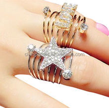 2016 new product double finger gold ring