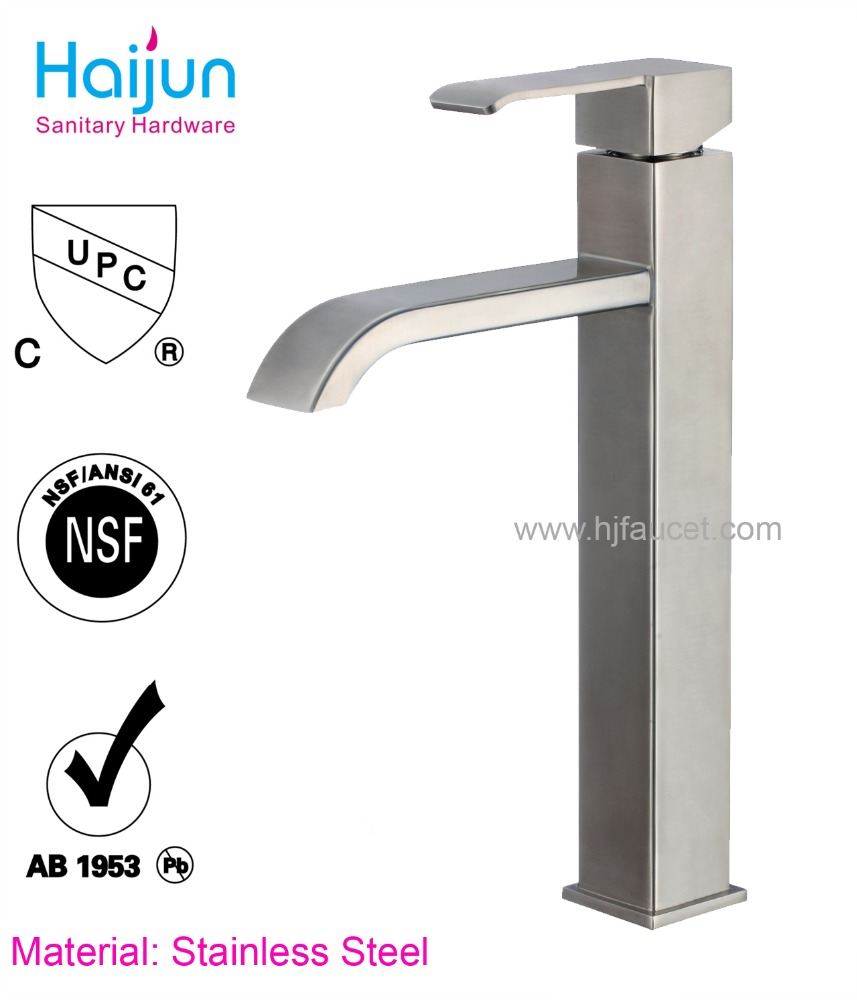 High quality waterfall bathroom faucet stainless steel sanitary ware