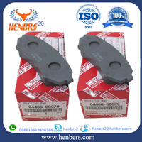 auto brake pad hi-q 04466-60070 car accessories long life time over 50000kms