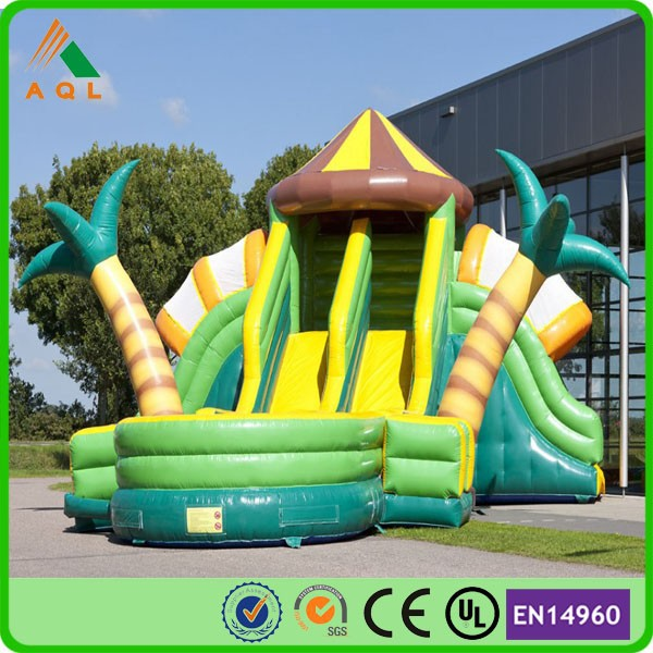 inflatable jungle slide/ used water slides for sale/ used commercial water slides