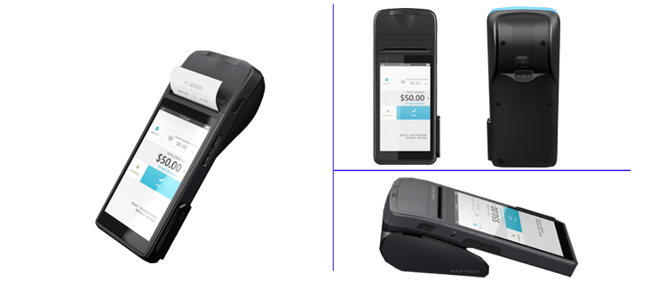Handheld POS for modern guest service with receipt printer