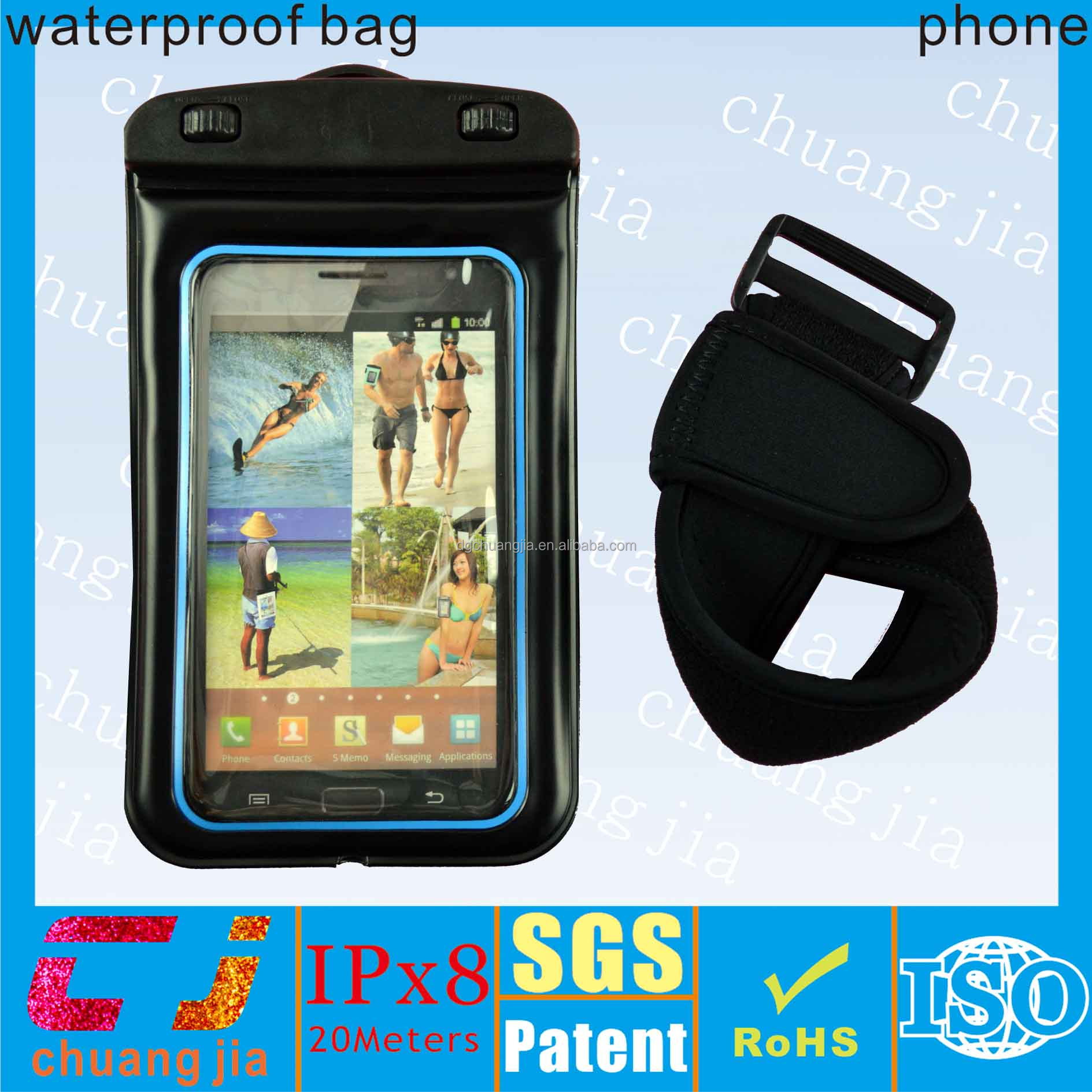 clear pvc beach bag waterproof case for samsung galaxy note