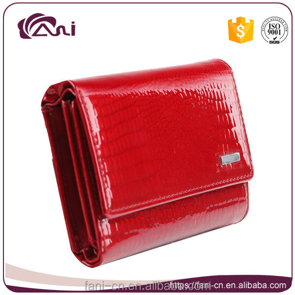 Fani latest small crocodile genuine leather women wallet,purse,money bag
