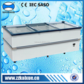 commercial deep freezer showcase for supermarket