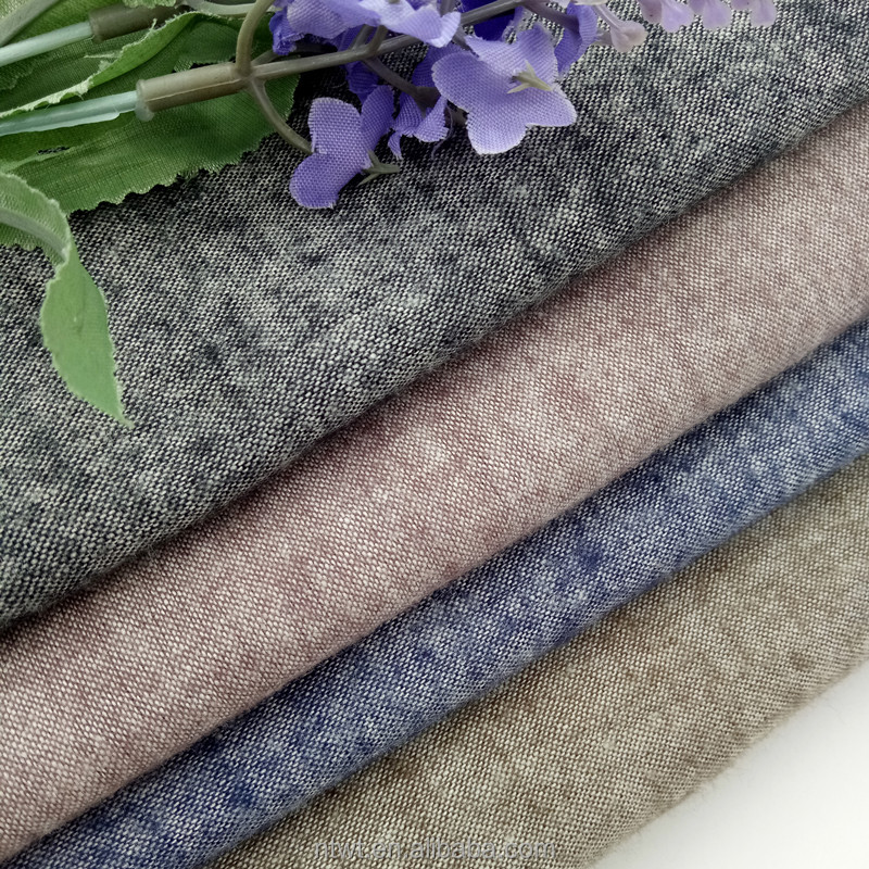 100 Cotton yarn dyed velvet chambray fabric