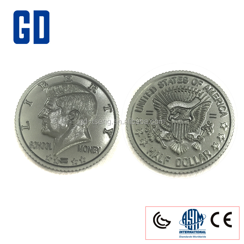 GD-500PCS Half-Dollars Set/Play Coins set/Learn Money