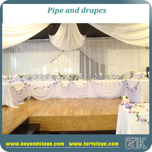 Professional wedding pipe and drape event backdrop aluminum poles for sale