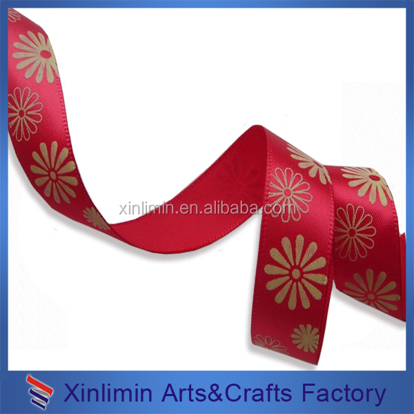 100% polyester printed logo low price colorful ribbons