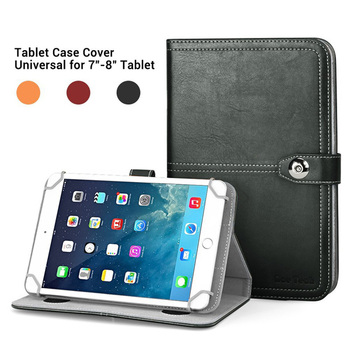 C&T Universal PU Leather Folio Stand Case Cover for 7 - 8 Inch Tablets