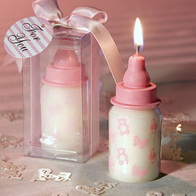 Wedding Return Gifts Pink Bottle Baby Shower Candle