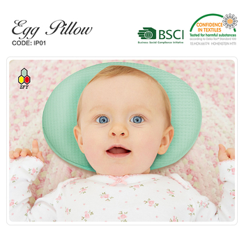 cotton 3d air mesh washable and breathable minos baby pillow for preventing SIDS