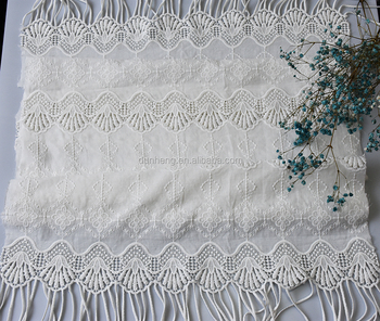 HOT DESIGN - embroidered cotton voile fabric