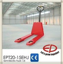 EP competitive price small 1.5 ton semi electric pallet truck with DC Curtis controller