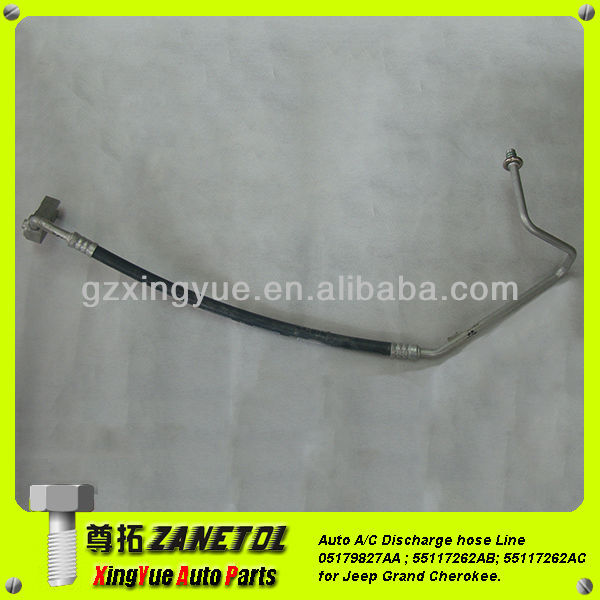 Auto air conditioning Discharge hose Line A/C Hose Pipe Aluminium Fitting Assembly 55117262AC 55117262AB Jeep Grand Cherokee