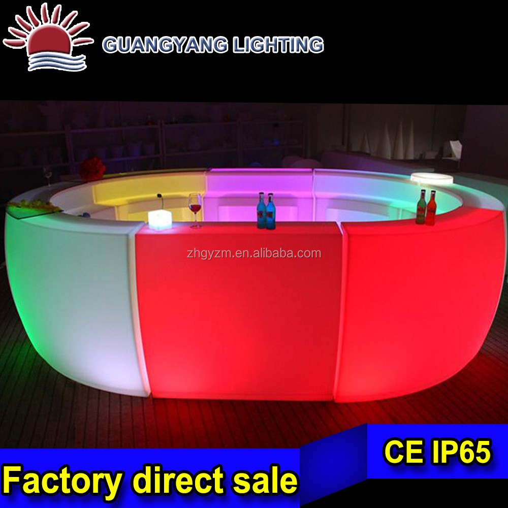night club lighted up led used high bar tables