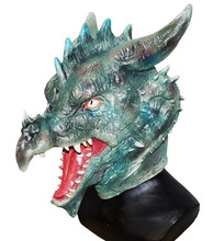 New Style Latex Halloween Dragon Head Mask