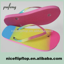 Hot sale summer rainbow sandals for lady