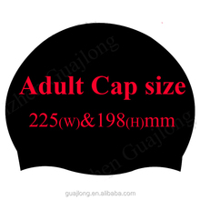 Customized funny silicone adult swimming caps for ironman