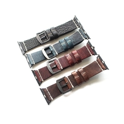 oil wax genuine leather great replacement brown 38mm 42mm watch strap/band for men