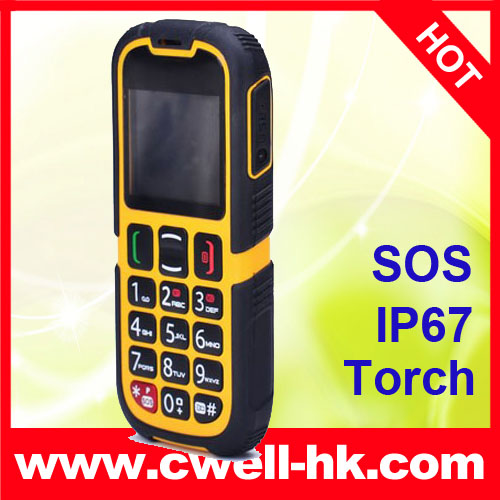 PS-V705 Waterproof Senior Citizen Mobile Phone with SOS Buttom Dual SIM Card Big battery