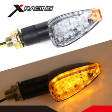 Xracing TSL1003-02 COPAP Mini Stalk Arrow Motorcycle LED Turn Signal Indicators Blinkers Lights Amber Yellow Fit for Kawasaki