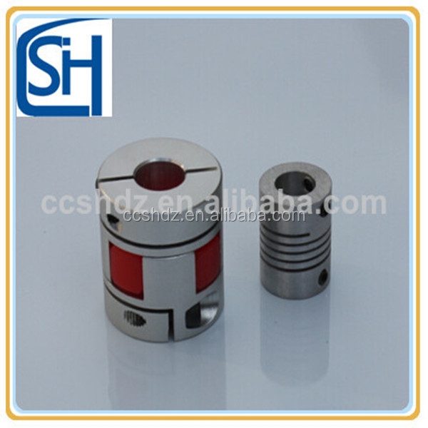 aluminium parallel flexible muff coupling with spline shaft