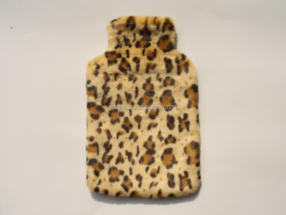 hot selling new promotion gift 2000ml BS hot water bag faux fur plush cover