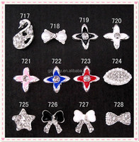 Finger Nail Charm Jewelry Swan Star Cross Design Nail Adhesive
