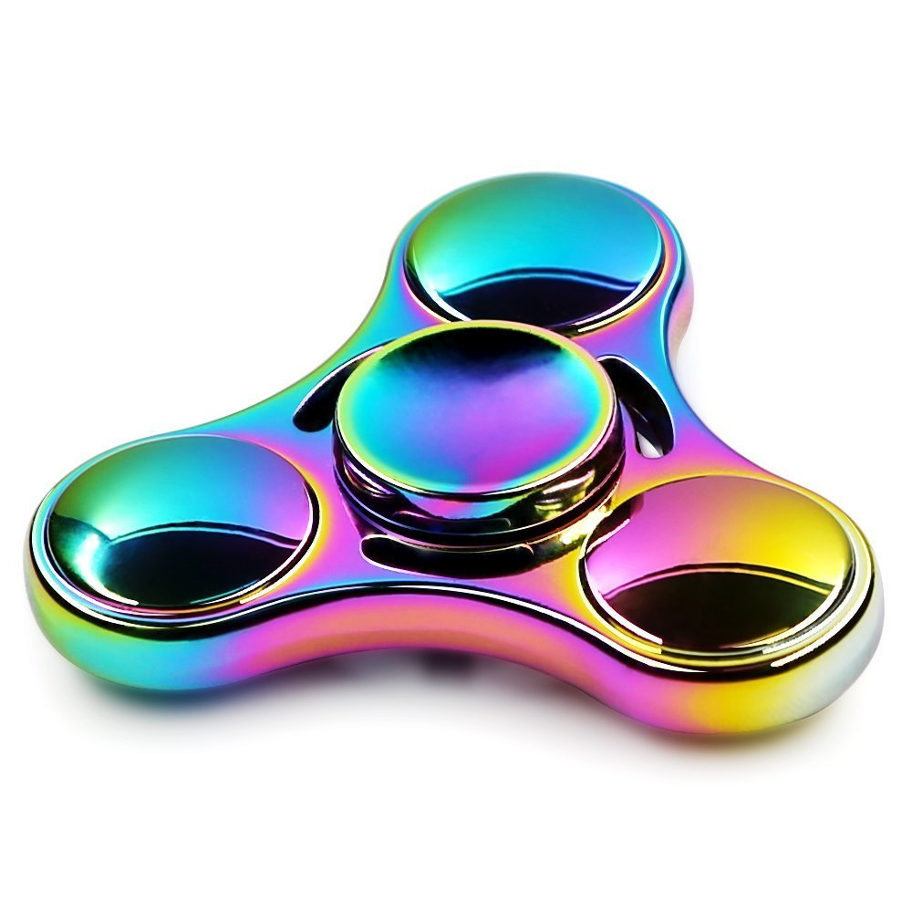 Fidget Hand Spinner, Rainbow Metal Fidget Spinner Anti-Anxiety Stress Relief EDC ADD ADHD Anxiety and Autism