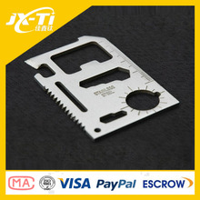 popular stainless steel credit card multi survival tool , wrench , screwdriver