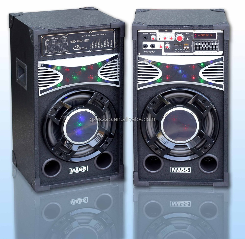 Portable Speaker With LED Light Audio Ibasteks Speaker Box with power amplifier bluetooth