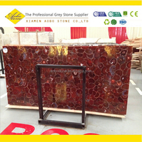 Popular decorative red agate marble tiles and slabs