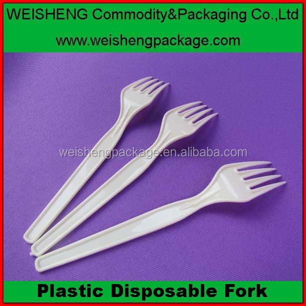 2015 new designed disposable plastic serving forks