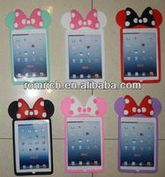 for Apple ipad mini cute dotted bows soft silicone case gentle girls cover