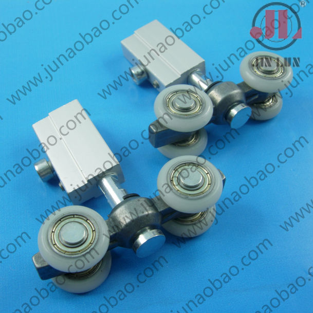 Aluminum frame door suspension roller