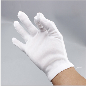 TC White cotton gloves etiquette safety work gloves