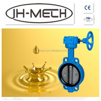 Low price worm gear actuated butterfly valve